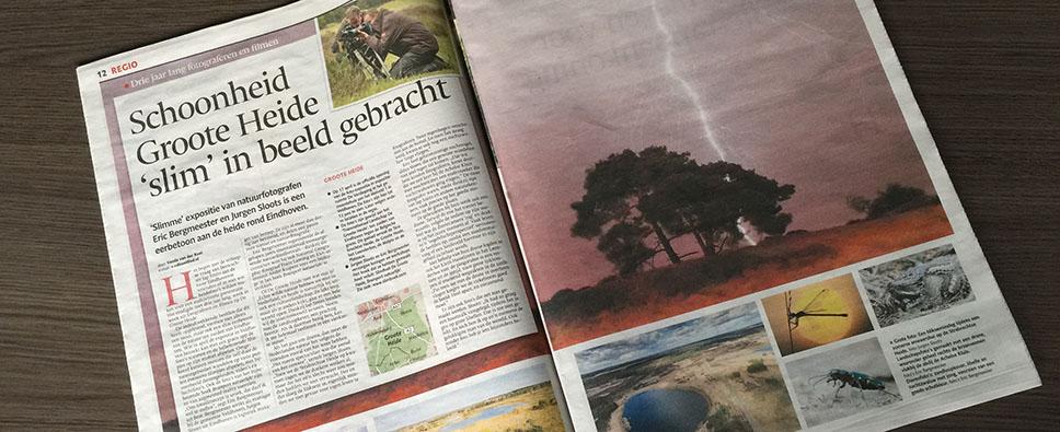 Groote Heide slim in beeld. SlimBoek in Eindhovens Dagblad